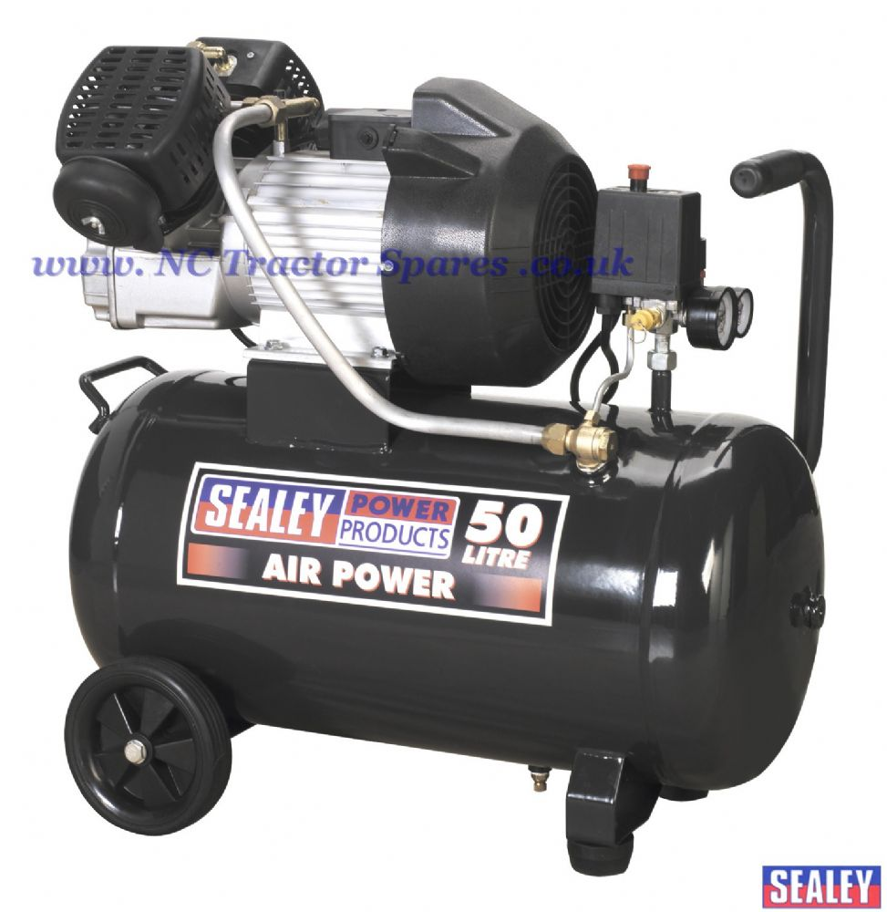 Compressor 50ltr V-Twin Direct Drive 3hp.